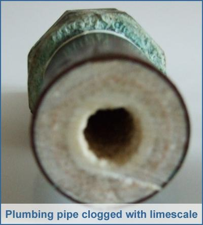 Lime Clogged Pipe