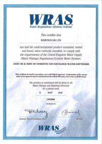 WRAS Kinetico Certification