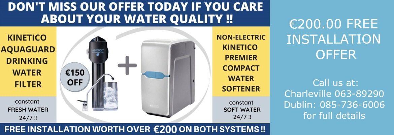 Kinetico Aquaguard Filter Plus Premier Softener Offer